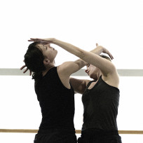 Karissa Barry and Hilary Maxwell in 'Just Words'. Photo by Michael Slobodian.