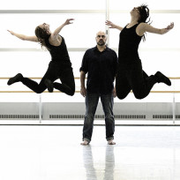 Karissa Barry, Hilary Maxwell and Serge Bennathan in 'Just Words'. Photo by Michael Slobodian.